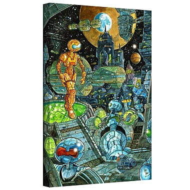 ArtWall 'Robots' by Luis Peres Graphic art on Wrapped Canvas; 48'' H x 32'' W