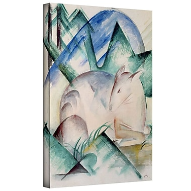 ArtWall 'Sleeping Deer' by Franz Marc Painting Print on Wrapped Canvas; 36'' H x 48'' W