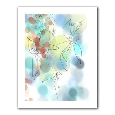 ArtWall Liquid Floral I' by Jan Weiss Graphic Art on Rolled Canvas; 36'' H x 48'' W
