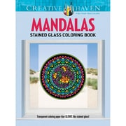 Dover® Creative Haven Mandalas Stained Glass Coloring Book