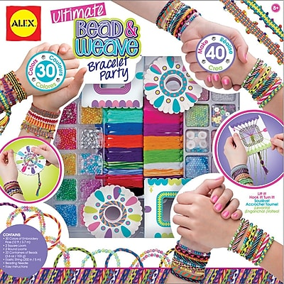 Alex Toys® Ultimate Bead & Weave Bracelet Party Kit