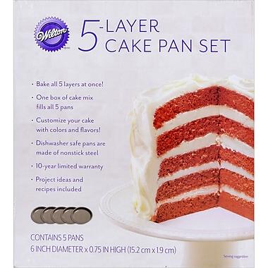 Wilton® Easy Layers! 5-Piece Cake Pan Set, 6