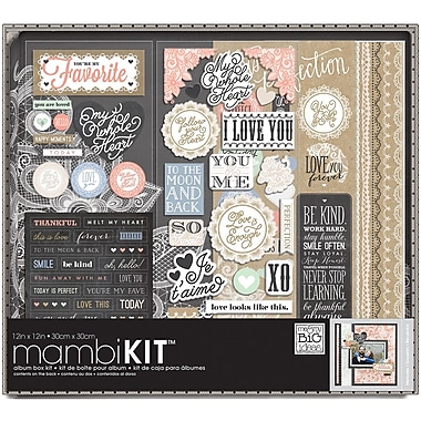 Me & My Big Ideas Boxed Album Kit, Lacey Charm, 12