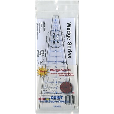 Quint Measuring Systems 18 Degrees Circle Wedge Ruler With 1