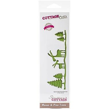 CottageCutz® In The Woods Moose & Pine Trees Elites Craft Die, 1.6