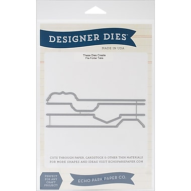 Carta Bella™ Echo Park Paper™ Through The Year File Tab Designer Die Set