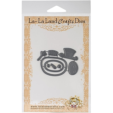 La-La Land Crafts Build-A-Snowman Cutting Die, Gray, 7