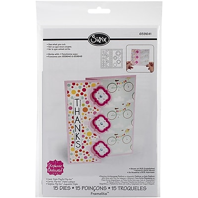 Sizzix® Triple Playful Flip-its Card Framelits Die Set