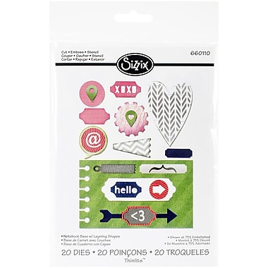 Sizzix® Notebook Base/Layering Shapes Thinlits Die Set
