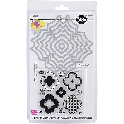 Sizzix® Charming Framelits Die Set With Stamps