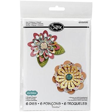 Sizzix® Simple Flowers Thinlits Die Set