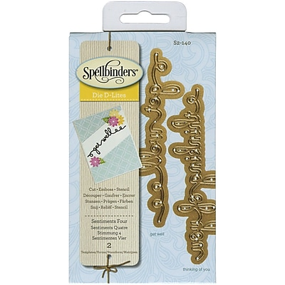 Spellbinders® Sentiments 4 Shapeabilities D-Lite Die, Green