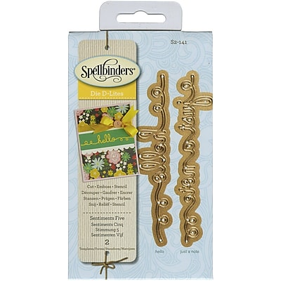 Spellbinders® Sentiments 5 Shapeabilities D-Lite Die, Green