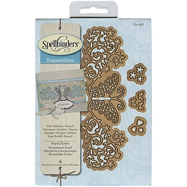 Spellbinders® Royal Flutter Shapeabilities Die, Brown