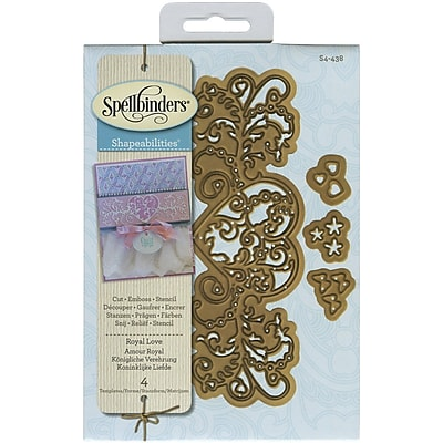 Spellbinders® Royal Love Shapeabilities Die, Brown
