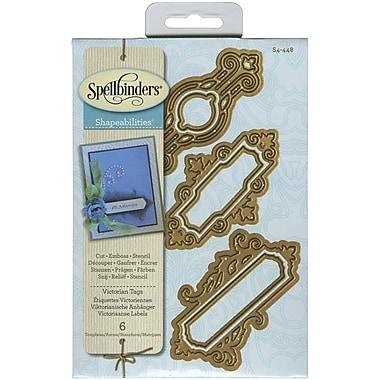 Spellbinders® Victorian Tags Shapeabilities Die, Gold