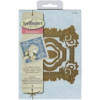 Spellbinders® Labels 41 Decorative Accents Nestabilities Die, Blue