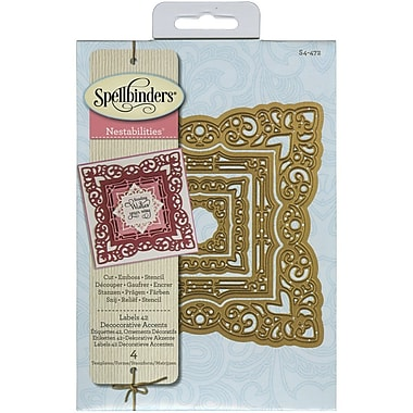 Spellbinders® Labels 42 Decorative Accents Nestabilities Die, Blue