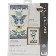 """Dimensions Peacock Butterflies Counted Cross Stitch Kit, 8"""" x 15"""""""