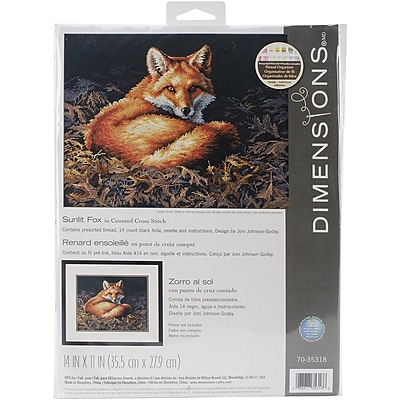 Dimensions Sunlit Fox Counted Cross Stitch Kit, 14