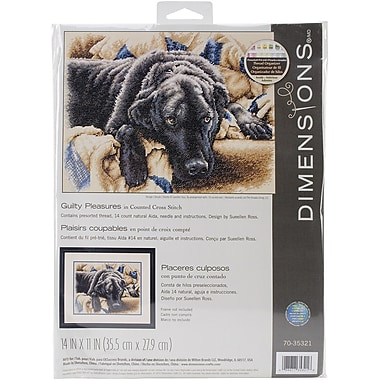 Dimensions Guilty Pleasures Counted Cross Stitch Kit, 14