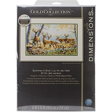 Dimensions Gold Collection Summer's End Counted Cross Stitch Kit, 16