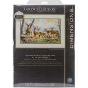 """Dimensions Gold Collection Summer's End Counted Cross Stitch Kit, 16"""" x 10"""""""