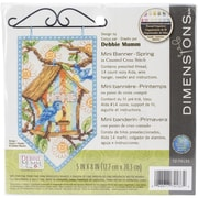 """Dimensions Spring Banner Counted Cross Stitch Kit, 5"""" x 8"""""""