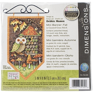 Dimensions Fall Banner Counted Cross Stitch Kit, 5