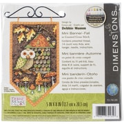 """Dimensions Fall Banner Counted Cross Stitch Kit, 5"""" x 8"""""""