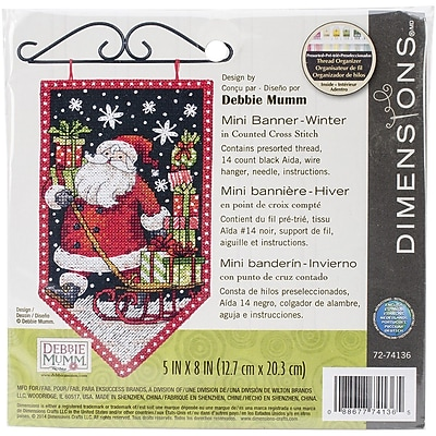 Dimensions Winter Banner Counted Cross Stitch Kit, 5