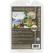 """Dimensions Gold Petite Bayside Cottage Counted Cross Stitch Kit, 7"""" x 5"""""""