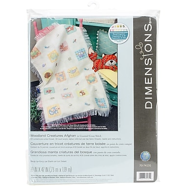 Dimensions Woodland Creatures Afghan Counted Cross Stitch Kit, 29