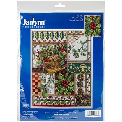 Janlynn® Winter Montage Counted Cross Stitch Kit, 11