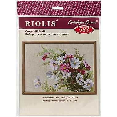 Riolis Cosmos Counted Cross Stitch Kit, 11 3/4