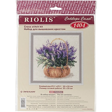 Riolis French Levander Counted Cross Stitch Kit, 9 3/4