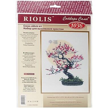 Riolis Bonsai Sakura Wish of Well Being Counted Cross Stitch Kit, 13 3/4
