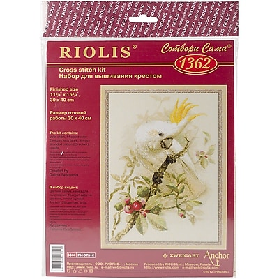 Riolis White Cockatoo Counted Cross Stitch Kit, 11 3/4