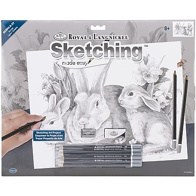 Royal Brush Bunnies Large Sketching Kit, 16