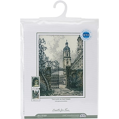 RTO The Gate In The Town Counted Cross Stitch Kit, 7 1/2