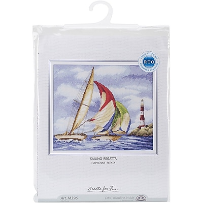 RTO Sailing Regatta Counted Cross Stitch Kit, 11