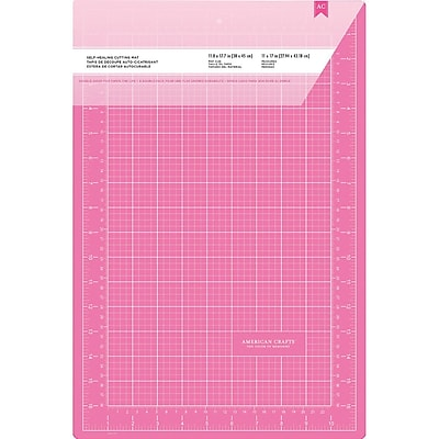 American Crafts™ Double-Sided Self-Healing Cutting Mat, Pink, 12