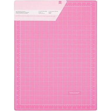 American Crafts™ Double-Sided Self-Healing Cutting Mat, Pink, 18