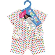 Springfield Collection® Footie Pajamas, White With Polka Dots