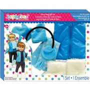 Springfield Collection® Winter Set With Blue Polka Dot Vest And White Fur Boots
