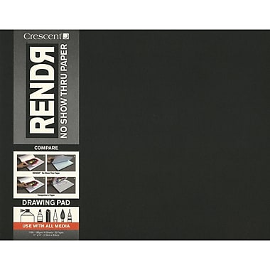 Crescent® RENDR® No Show Thru Drawing Pad, 11