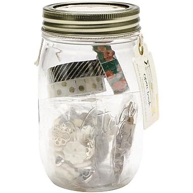 American Crafts™ Maggie Holmes Open Book Embellishment Jar, 5 1/4
