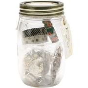 "American Crafts™ Maggie Holmes Open Book Embellishment Jar, 5 1/4"" x 3"" x 3"""