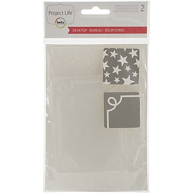 American Crafts™ Project Life Desktop Edition Embossing Folder, 2/Pack
