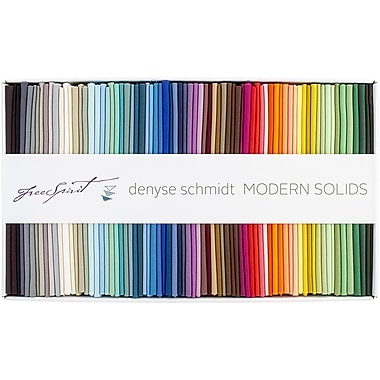 FreeSpirit Fabrics Modern Solids-Denyse Schmidt Fat Quarter Fabric Bundle, 18